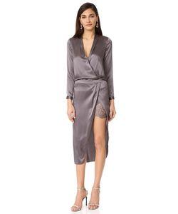 Michelle Mason | Платье С Длинными Рукавами И Кружевной Комбинацией