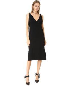 Milly   Платье С V-Образным Вырезом И Завязками На Плечах