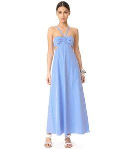 Tibi | Платье В Клетку Гингем Со Сборками И Американской Проймой