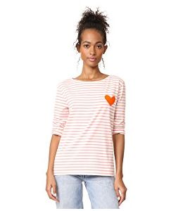 Chinti And Parker | Stripe Heart Tee