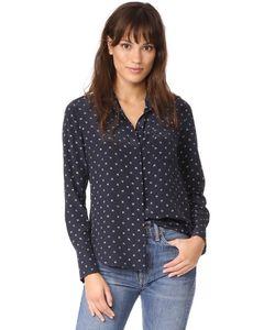Vince | Изящная Облегающая Рубашка В Горошек