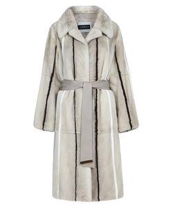 Vericci | Норковое Пальто С Поясом