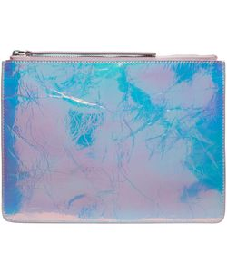 KARA | Crinkled Leather Zip Pouch