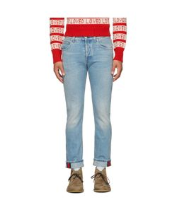 Gucci   Tapered Web Jeans