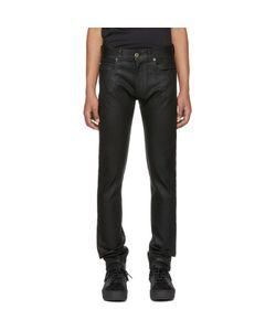 Versace | Leather Effect Jeans
