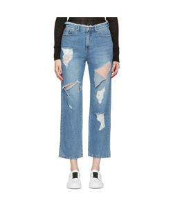 SJYP | Destroyed Cut-Out Jeans