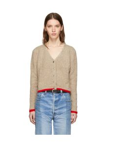 The Elder Statesman | Cashmere Cropped Line Cardigan