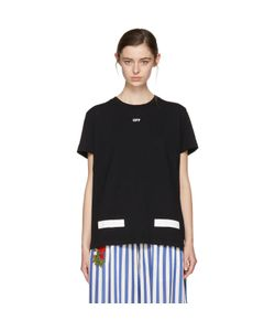 OFF-WHITE   Exclusive Diagonal Tulips T-Shirt