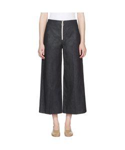 Harmony   Denim Pina Zip Trousers