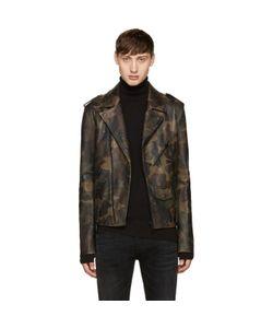 Pyer Moss | Camo Leather Jacket