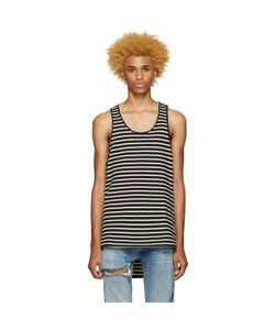 FEAR OF GOD | Exclusive Black And Cream Striped Top