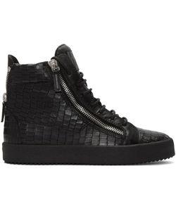 Giuseppe Zanotti Design | Giuseppe Zanotti Croc-Embossed London High-Top Sneakers