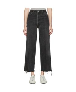 RE-DONE | High-Rise Wide-Leg Crop Jeans