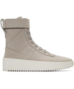 FEAR OF GOD | Suede Zip Hig-Top Sneakers