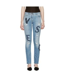 Versace | Embellished Letters Jeans