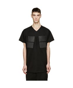 JULIUS | Leather Patch T-Shirt