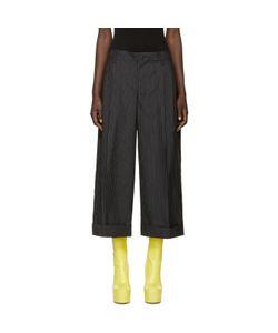 FACETASM   Wool Pinstripe Trousers