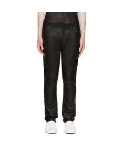 Diet Butcher Slim Skin | Leather Panel Jeans