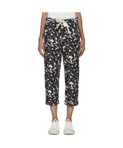 Sara Lanzi | And Navy Textured Jacquard Trousers