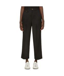 Helmut Lang | High Waist Crop Trousers