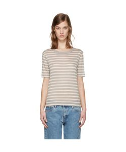 T By Alexander Wang | And Taupe Striped T-Shirt