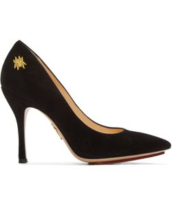 Charlotte Olympia   Suede Bacall Heels