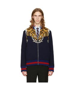 Gucci | Tiger Zip-Up Sweater