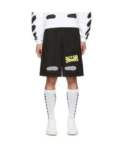OFF-WHITE | Spray Brushed Diagonals Shorts