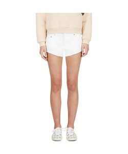 Filles A Papa | Embroidered Denim Chastity Mini Shorts