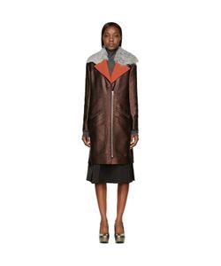 Rodarte | Shearling Collar Coat