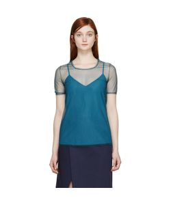 Burberry Prorsum | Tulle And Silk Feather Light Top