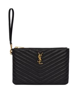 Saint Laurent | Quilted Monogram Pouch