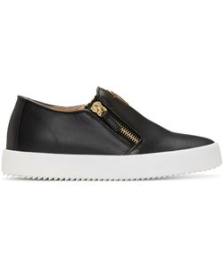 Giuseppe Zanotti Design | Giuseppe Zanotti Leather London Slip-On Sneakers