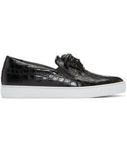Versace | Croc-Embossed Medusa Slip-On Sneakers
