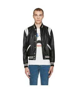 Saint Laurent   And Leather Teddy Bomber Jacket
