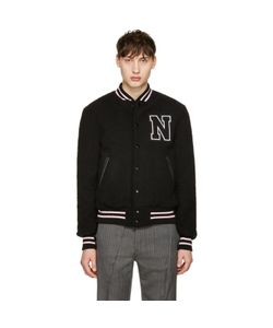 Noah | Wool Teddy Varsity Bomber Jacket