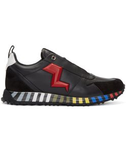 Fendi | And Leather Bolt Sneakers