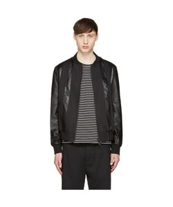 Giuliano Fujiwara | Twill And Leather Bomber Jacket