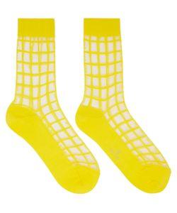 Ys | Sheer Check Socks