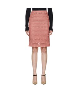 Burberry Prorsum   Tiered French Lace Skirt