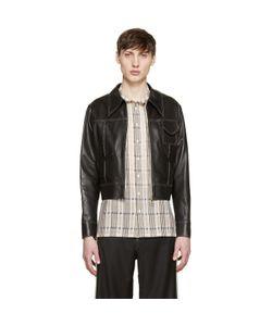 WALES BONNER | Leather Baldwin Jacket