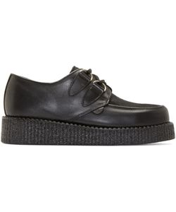 Underground | Leather And Calf-Hair Wulfrun Creepers