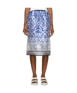 Ostwald Helgason | Satin Degraded Jacquard Tea Skirt