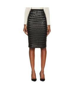 Burberry London | Silk Sequin Embroidered Midi Skirt