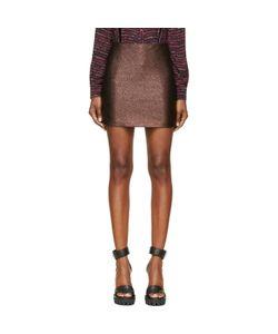 Rodarte | Copper Lurex Jacquard Mini Skirt