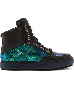 Alejandro Ingelmo | And Iridescent Leather Jeddi High Top Sneakers