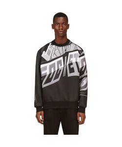 JUUN.J | And Neoprene Sign Print Sweatshirt