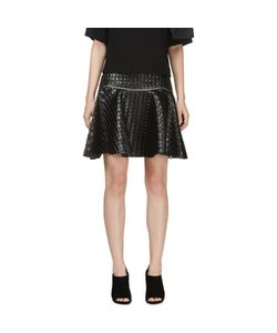 Jay Ahr | Embossed Leather Circle Skirt