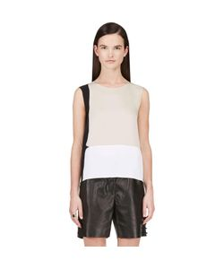 Calvin Klein Collection | Stretch Silk Satin Toral Blouse