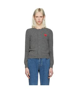 Comme des Gar ons Play | Comme Des Garçons Play Wool Heart Patch Cardigan